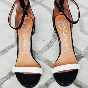 Jeffrey Campbell black and white heels